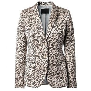 Banana Republic Leopard Print Long & Lean Blazer